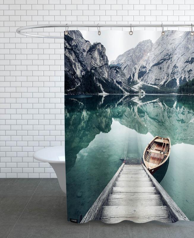 Mountains, Ocean, Lake & Seascape, Calm Waters by @rwam Shower Curtain