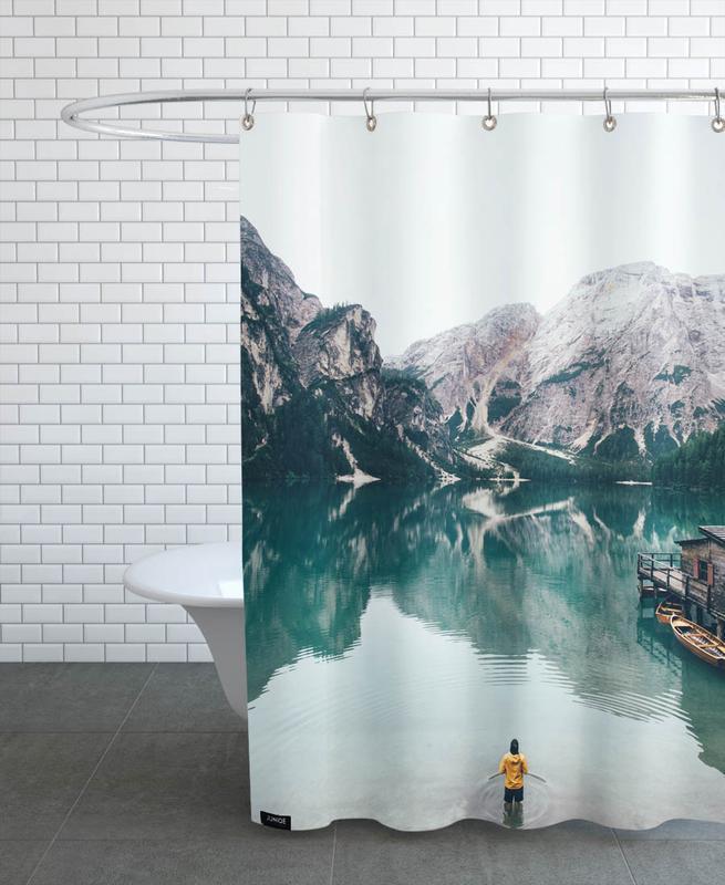Hidden Lake by Ueli Frischknecht -Duschvorhang