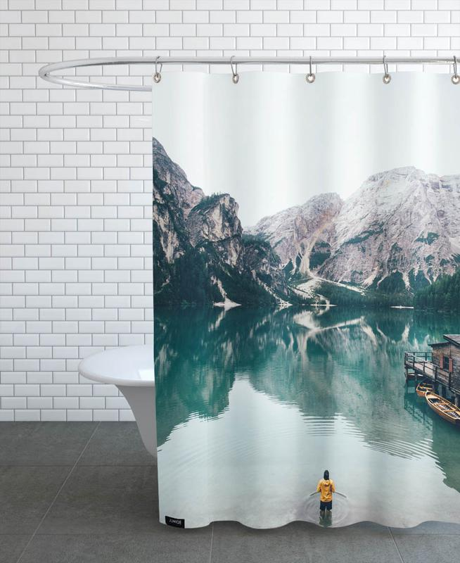 Hidden Lake by Ueli Frischknecht Shower Curtain