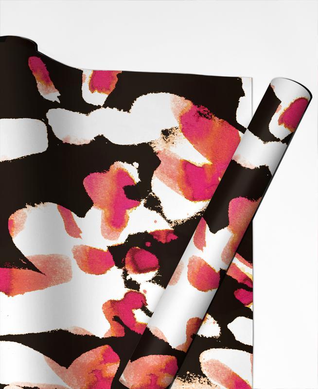 Floral Magenta papier cadeau