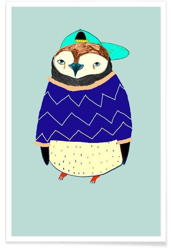 Art pour enfants, Pingouins, Pengy affiche