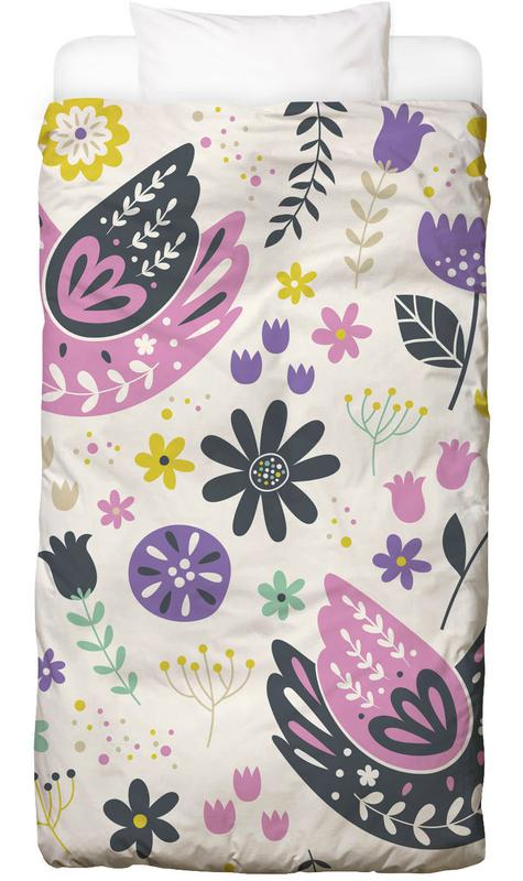 Scandinavian Birds Pattern Kids' Bedding