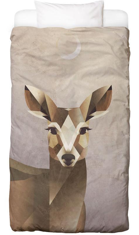Cerfs, Art pour enfants, Dawn Deer Linge de lit