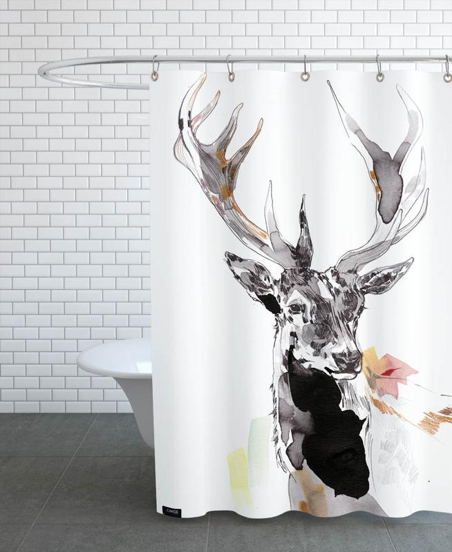 Hirsch 2 -Duschvorhang