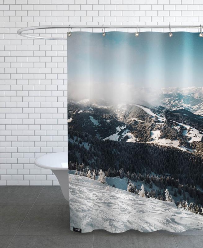 Mountains, Austrian Alps in the Sun Shower Curtain