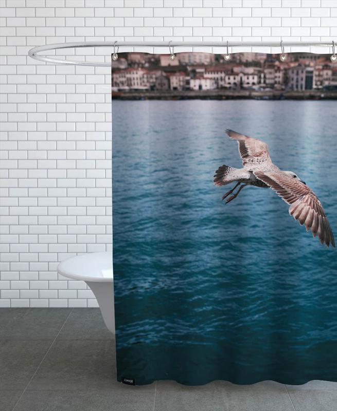 Seagull in Porto Shower Curtain