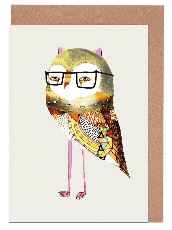 Best Owl Greeting Card Set