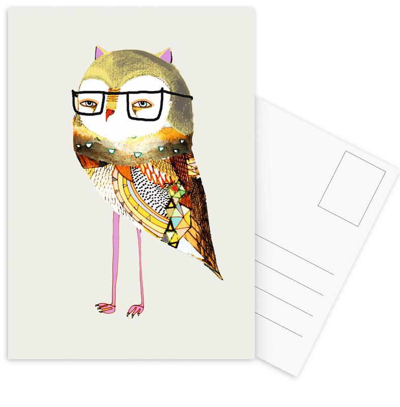 Best Owl Postcard Set