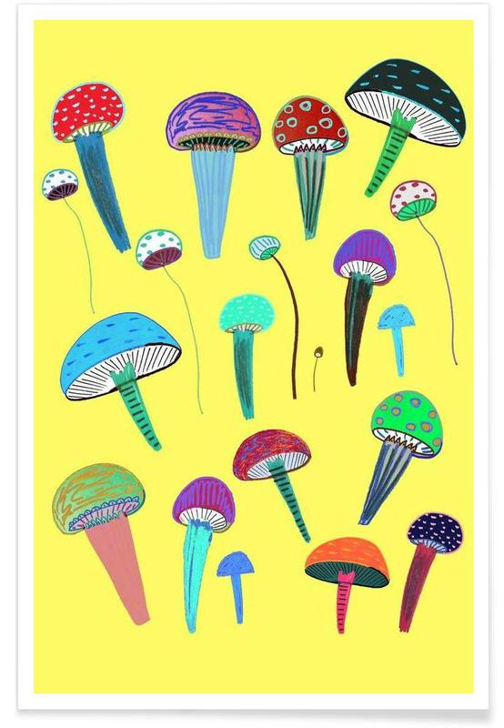 Pilze, Mushrooms -Poster