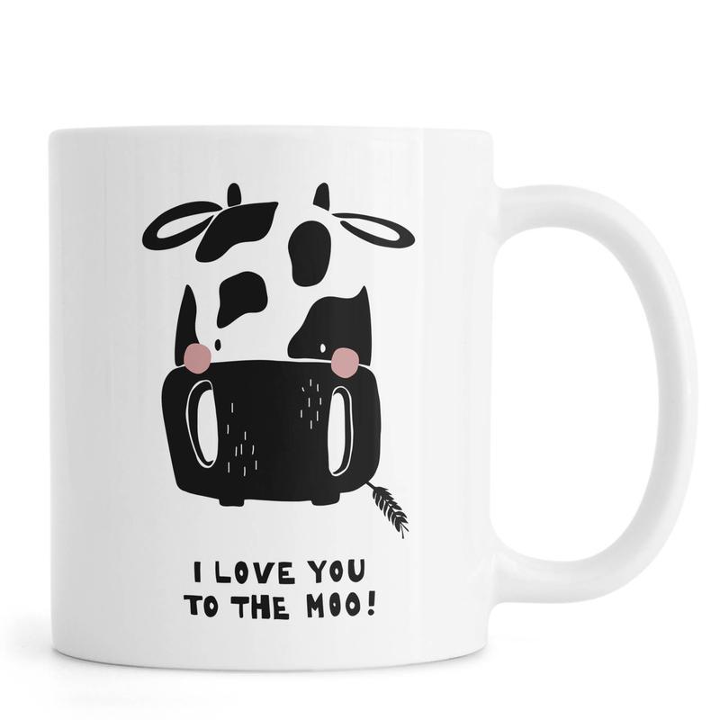 I Love You To The Moo. Mug