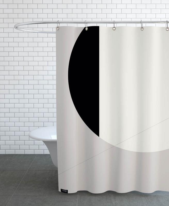 Black Side Shower Curtain