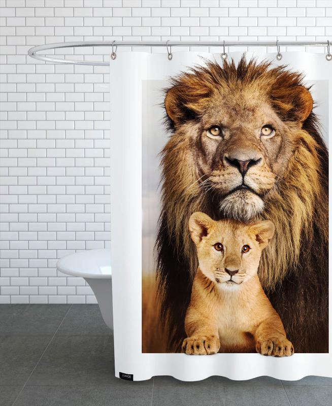 LION FAMILY Shower Curtain
