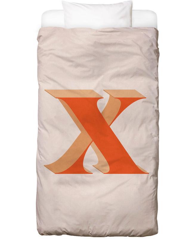 Alphabet & Buchstaben, Red X -Kinderbettwäsche