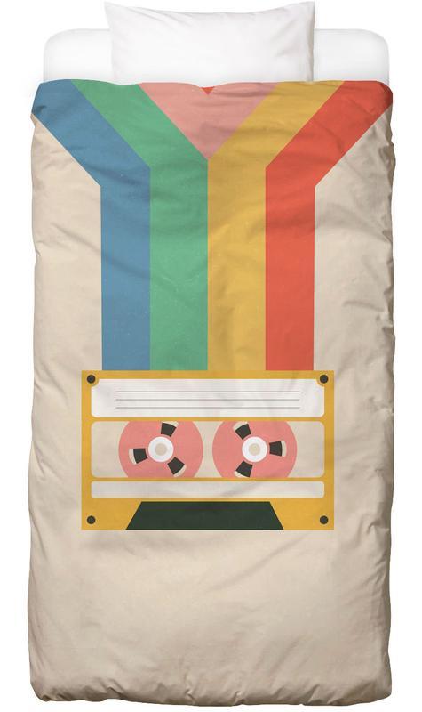 Retro Tape -Kinderbettwäsche