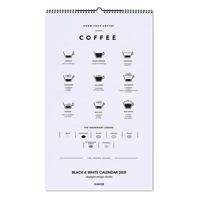 Zwart en wit, Black & White Calendar 2021- daylight design studio wandkalender