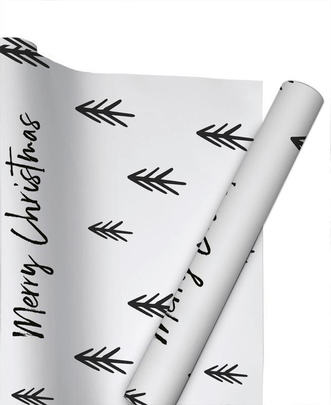 Black & White, A Perfect Christmas Gift Wrap