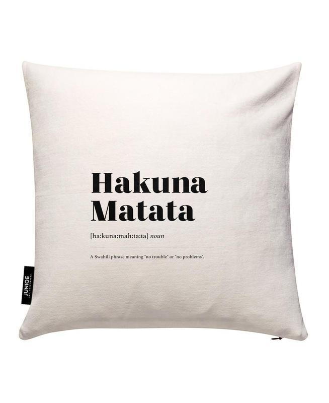 Hakuna Matata Housse de coussin