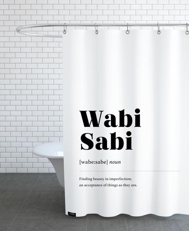 Wabi-Sabi rideau de douche