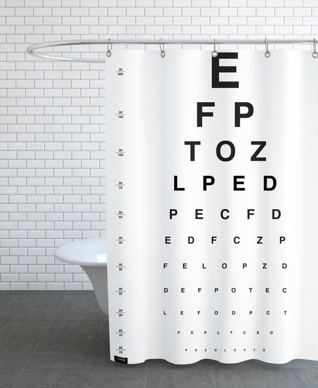 Eye Chart -Duschvorhang