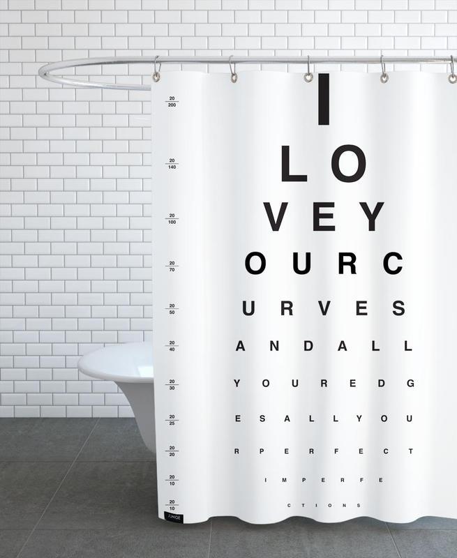 Eye Chart I Love You -Duschvorhang