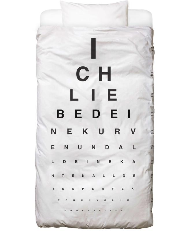 Eye Chart Ich Liebe Dich Linge de lit