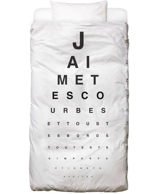Eye Chart Je t'aime Linge de lit