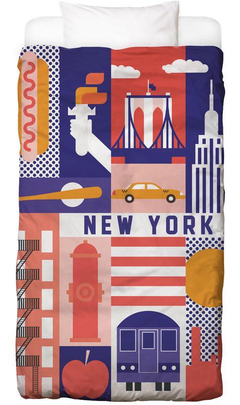 Sehenswürdigkeiten & Wahrzeichen, New York, Reise, Iconic New York -Kinderbettwäsche