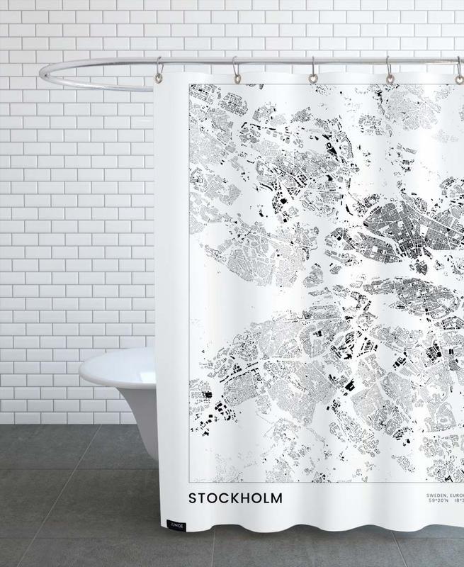 Noir & blanc, Stockholm, Stockholm rideau de douche