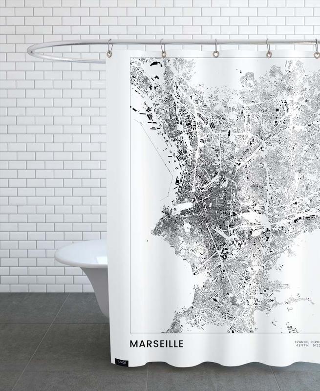 Schwarz & Weiß, Marseille -Duschvorhang