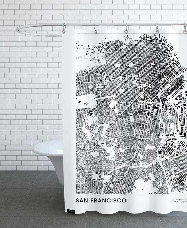 San Francisco, Noir & blanc, San Francisco rideau de douche