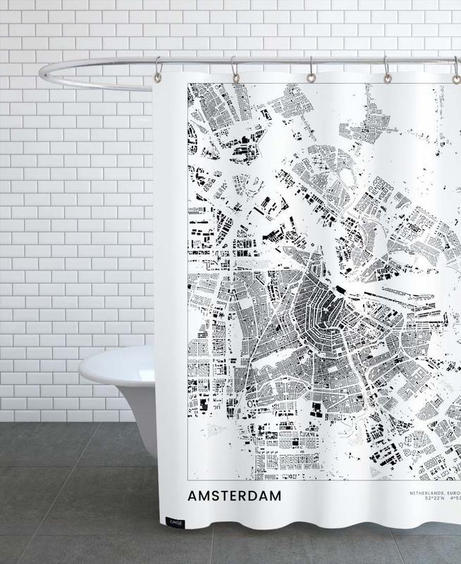 Noir & blanc, Amsterdam, Amsterdam rideau de douche