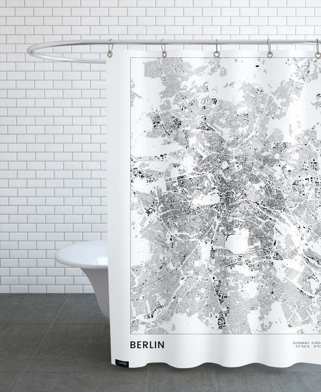 Berlin Map -Duschvorhang