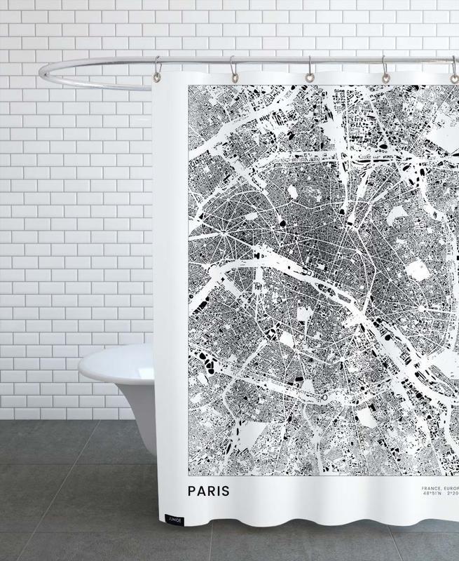 Noir & blanc, Paris, Paris rideau de douche