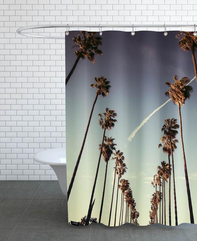 Sunsets, Travel, Sights & Landmarks, Palms, Los Angeles, On Sunset Shower Curtain