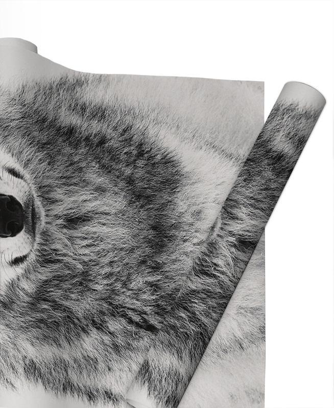 Wölfe, Winter Warrior -Geschenkpapier