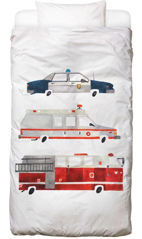 Kinderzimmer & Kunst für Kinder, Sirens on the Road -Kinderbettwäsche