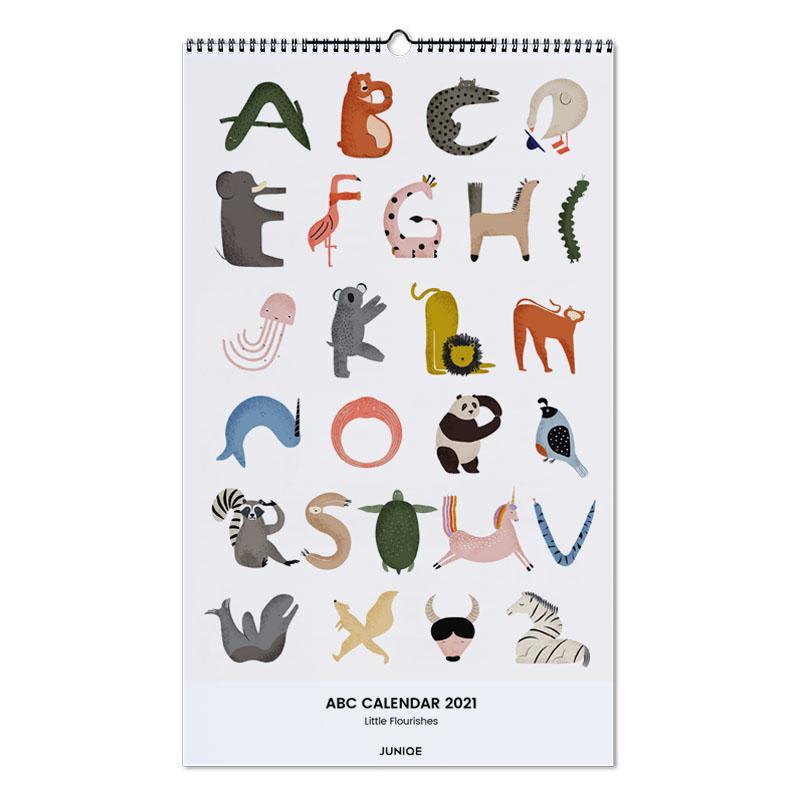 Kinderzimmer & Kunst für Kinder, Little Flourishes - ABC Calendar 2021 Calendar 2021 -Wandkalender