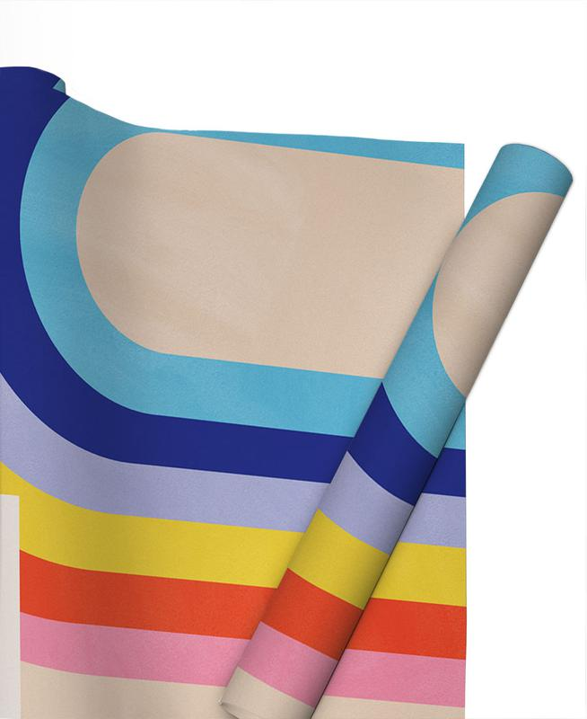 Nursery & Art for Kids, Rainbow and Clouds Gift Wrap