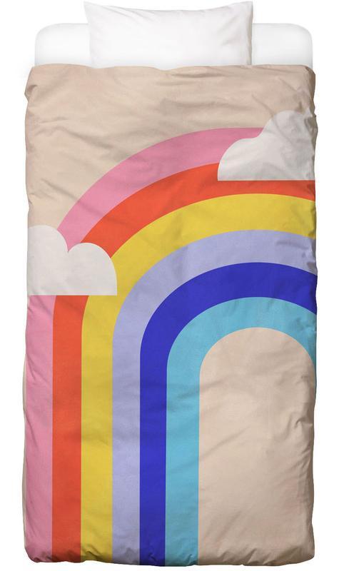 Rainbow and Clouds -Kinderbettwäsche