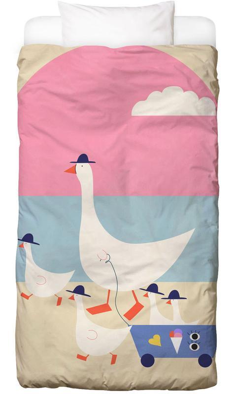 Geese on Vacation -Kinderbettwäsche