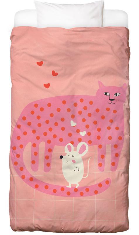 Chats, Art pour enfants, Cat and Mouse housse de couette enfant