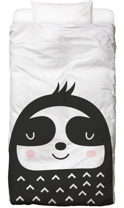 Paresseux, Art pour enfants, Happy Sloth Linge de lit