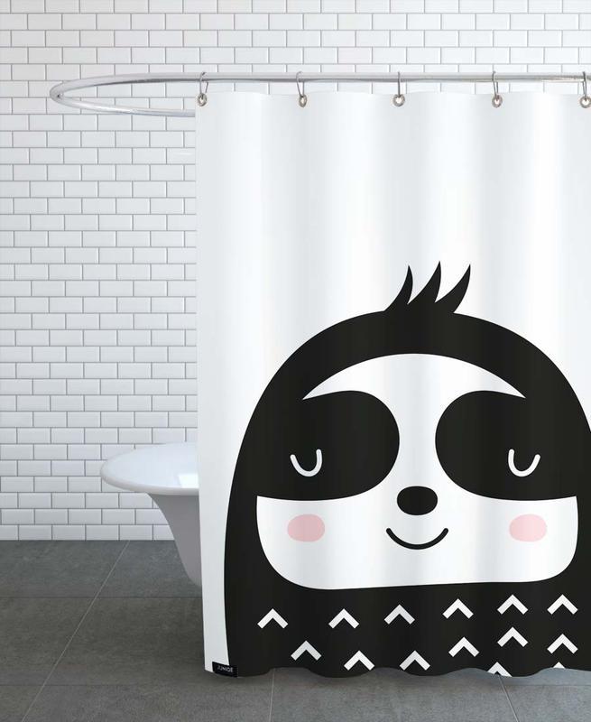 Faultiere, Kinderzimmer & Kunst für Kinder, Happy Sloth -Duschvorhang