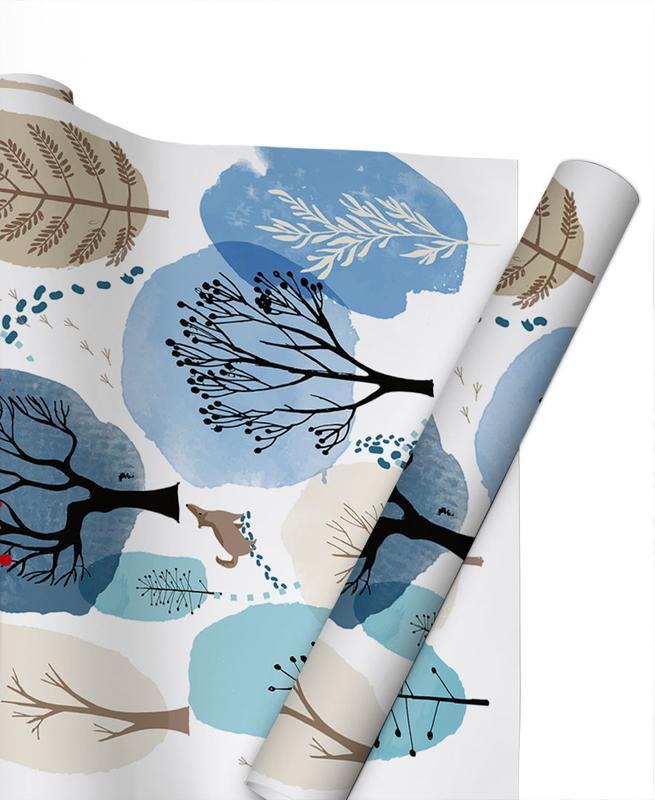 Wälder, Bäume, Kinderzimmer & Kunst für Kinder, Winter Forest -Geschenkpapier