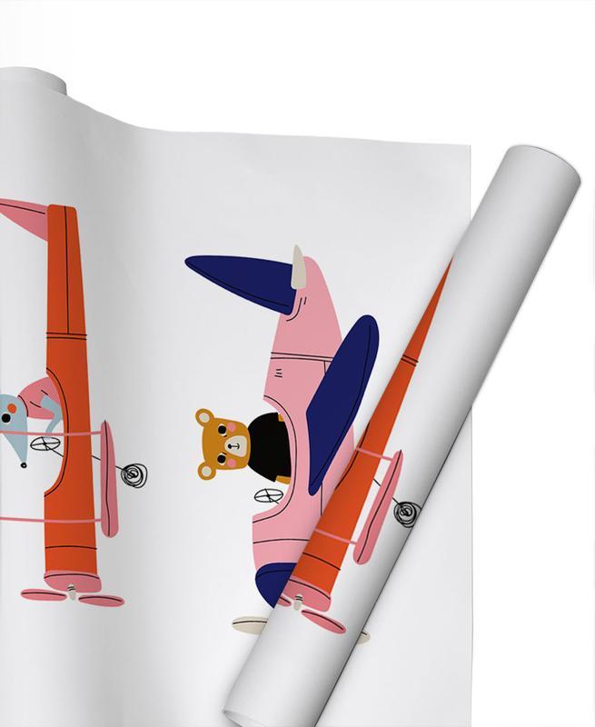 Aeroplane Race -Geschenkpapier