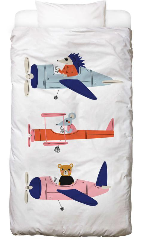 Aeroplane Race -Kinderbettwäsche