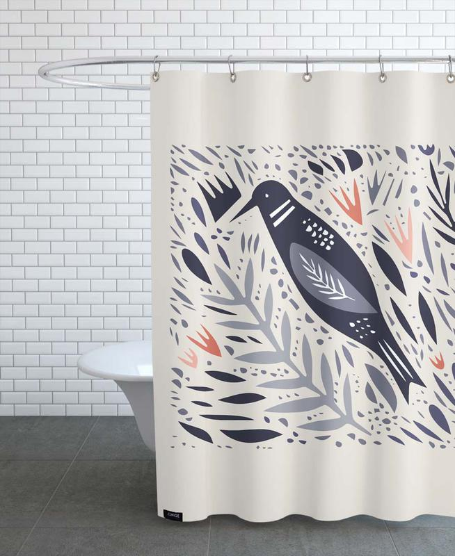 Kinderzimmer & Kunst für Kinder, Birdsong -Duschvorhang