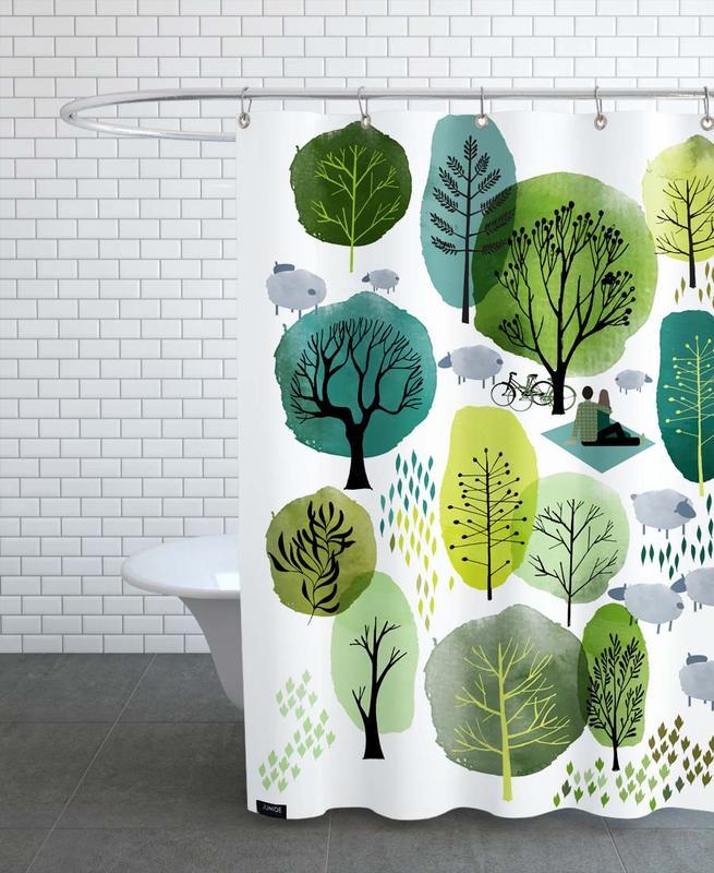 Kinderzimmer & Kunst für Kinder, Spring Forest -Duschvorhang