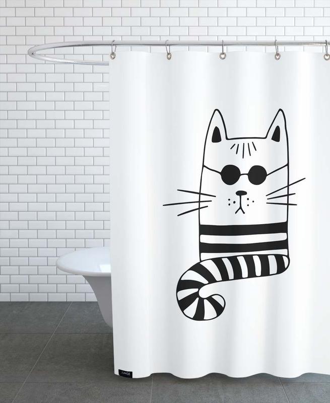 Cool Cat -Duschvorhang
