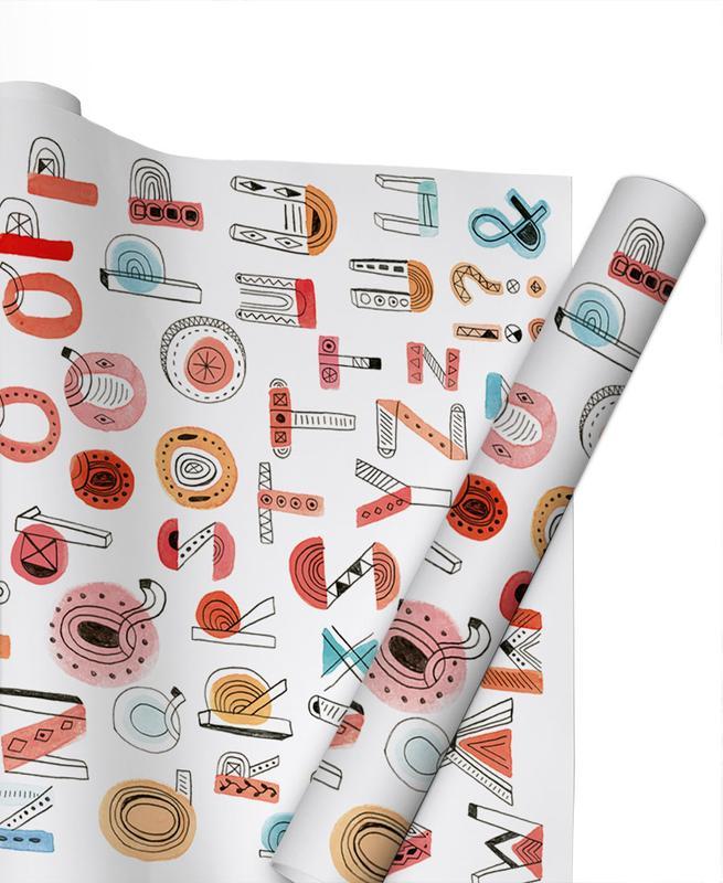 Alphabet Soup Gift Wrap